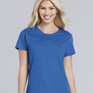 ladies t shirt cobalt