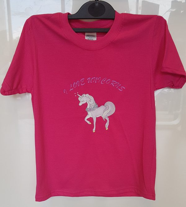 pink unicorn t shirt